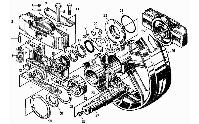 колеса натяжные на Т130, Т170